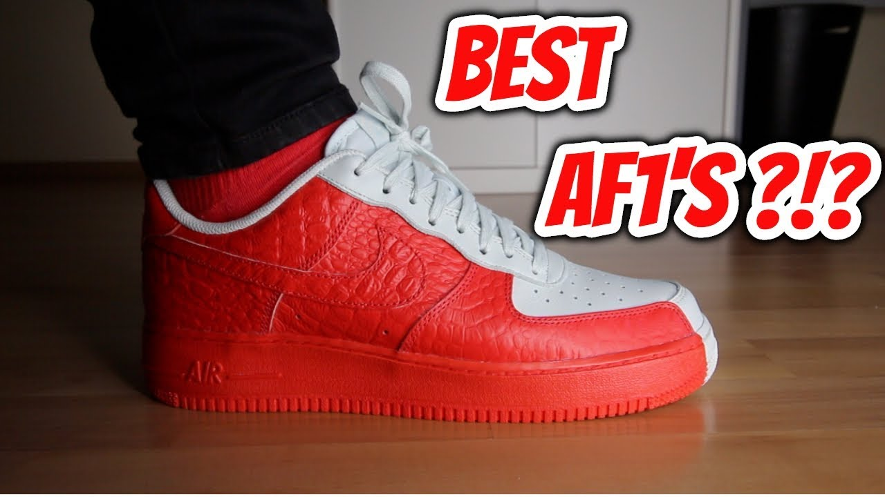 f4d3f3adbfc NIKE AIR FORCE 1  07 PREMIUM  SPLIT  (RED   OFF-WHITE) REVIEW ON-FEET