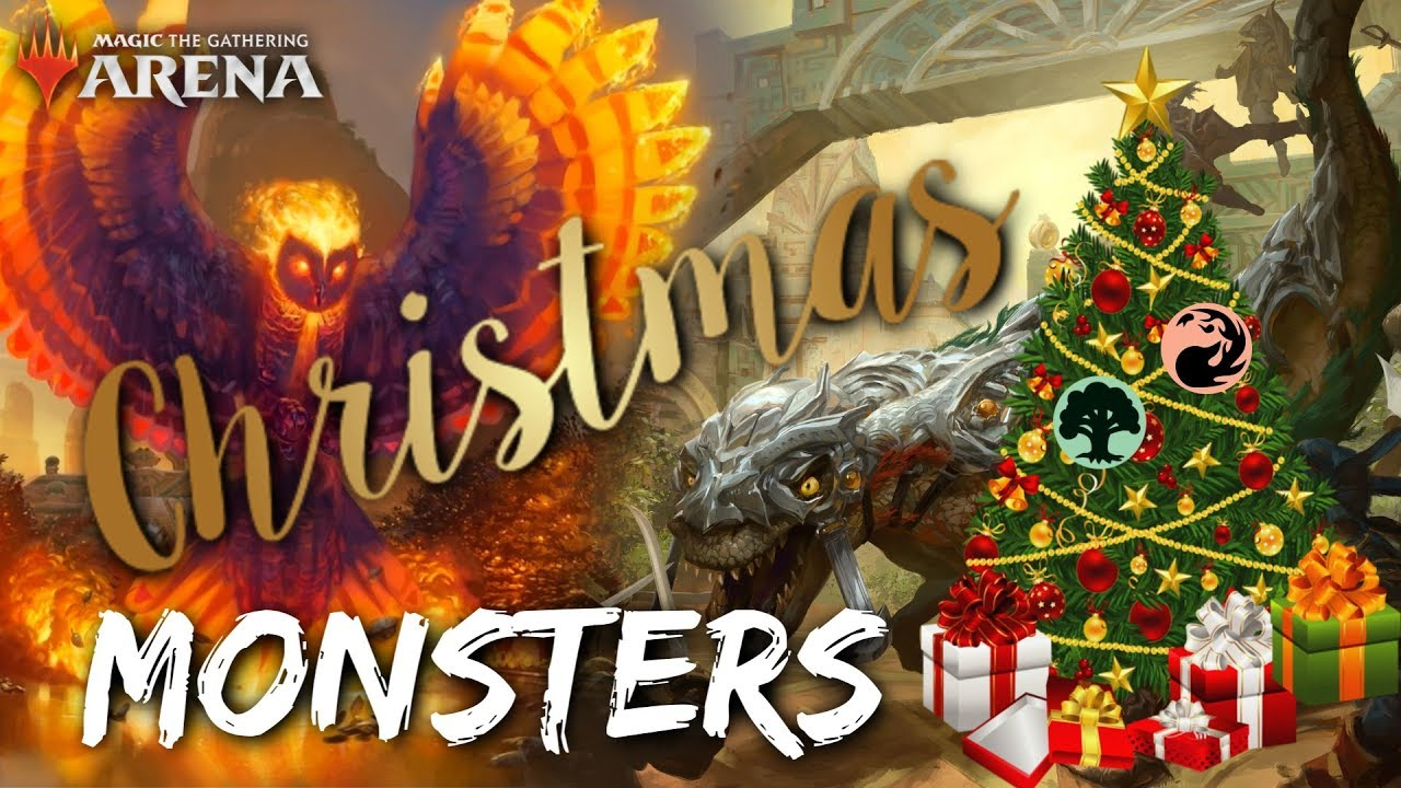 Christmas Monsters Mtg Arena Gruul Red Green Mid Range Deck In