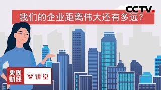 《央视财经V讲堂》 20191213 我们的企业距离伟大还有多远?| CCTV财经