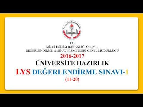 MEB (eba) Okul Kursu LYS DENEME SINAVI-1 (11-20)