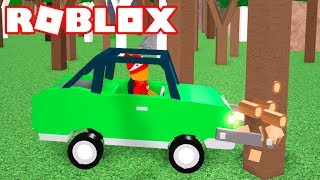 Roblox → BUYING CAR FROM $105,000!! -Woodcutting Simulator 🎮