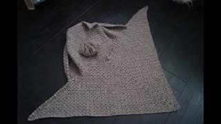 Как связать шаль крючком (Для начинающих) Дополнение к модели Шаль с капюшоном.