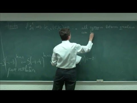 Algebraic Curves and their moduli spaces. Session 3