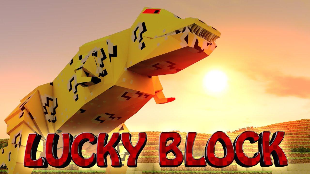 Lucky block boss challenge dinosaurs crazy craft orespawn mod