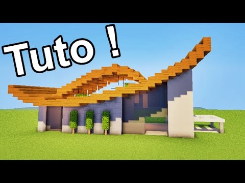 Comment faire maison moderne ultra design minecraft tuto for Minecraft maison design