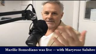 Marilie Bomediano was live — with Maryrose Salubre