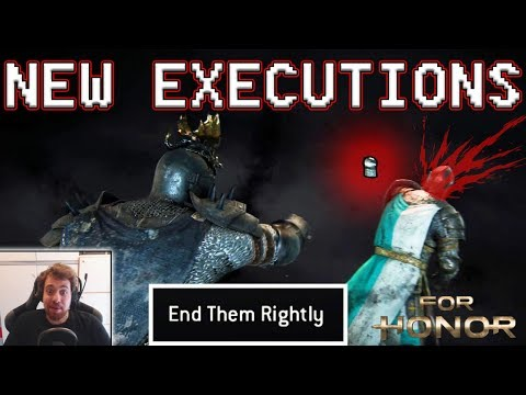 [For Honor] NEW EXECUTIONS - END THEM RIGHTLY!! - Reaction+Gameplay