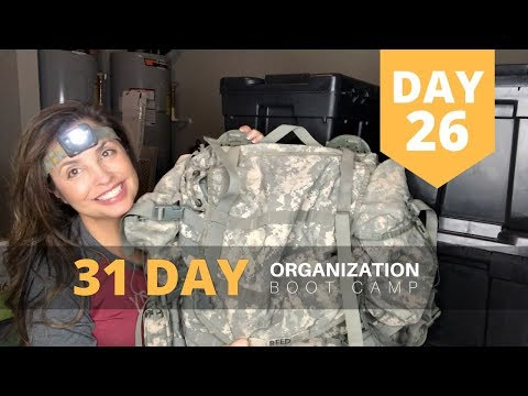 Military Spouse: 31 Day Organization Boot Camp - Day 26