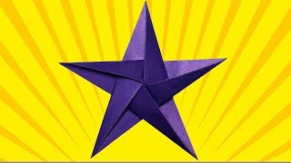 Как сделать звезду из бумаги. Звезда из бумаги своими руками. Подарок на 23 февраля