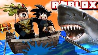 TUBARÃO ATACOU O NAVIO PIRATA NO ROBLOX!! (SharkBite)