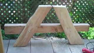 Start of a heavy duty picnic table