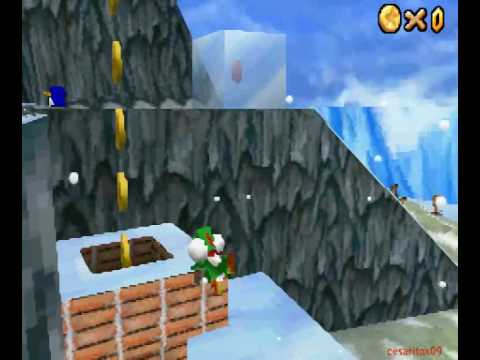 mario 64 8 red coins frosty slide