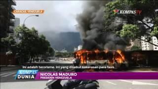 Aksi Anarkis Protes Presiden Venezuela Nicolas Maduro