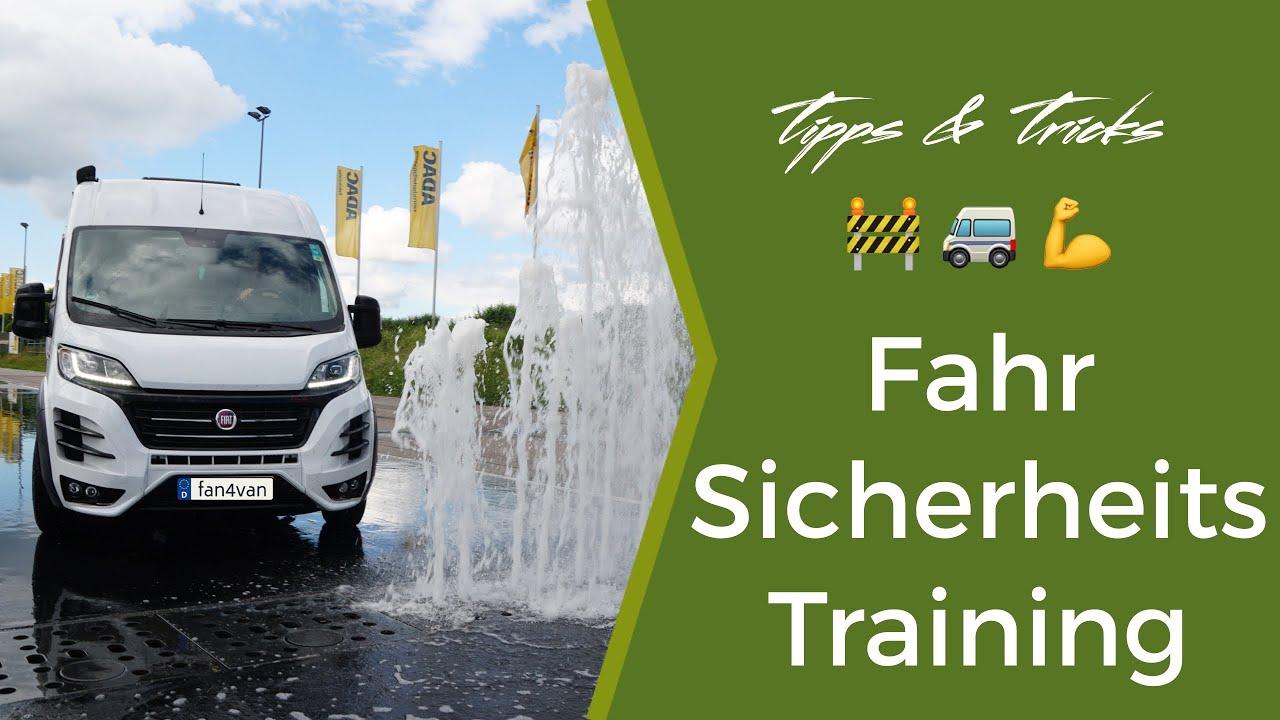 Wohnmobil Fahren Tipps - fan4van beim ADAC Fahrsicherheitstraining