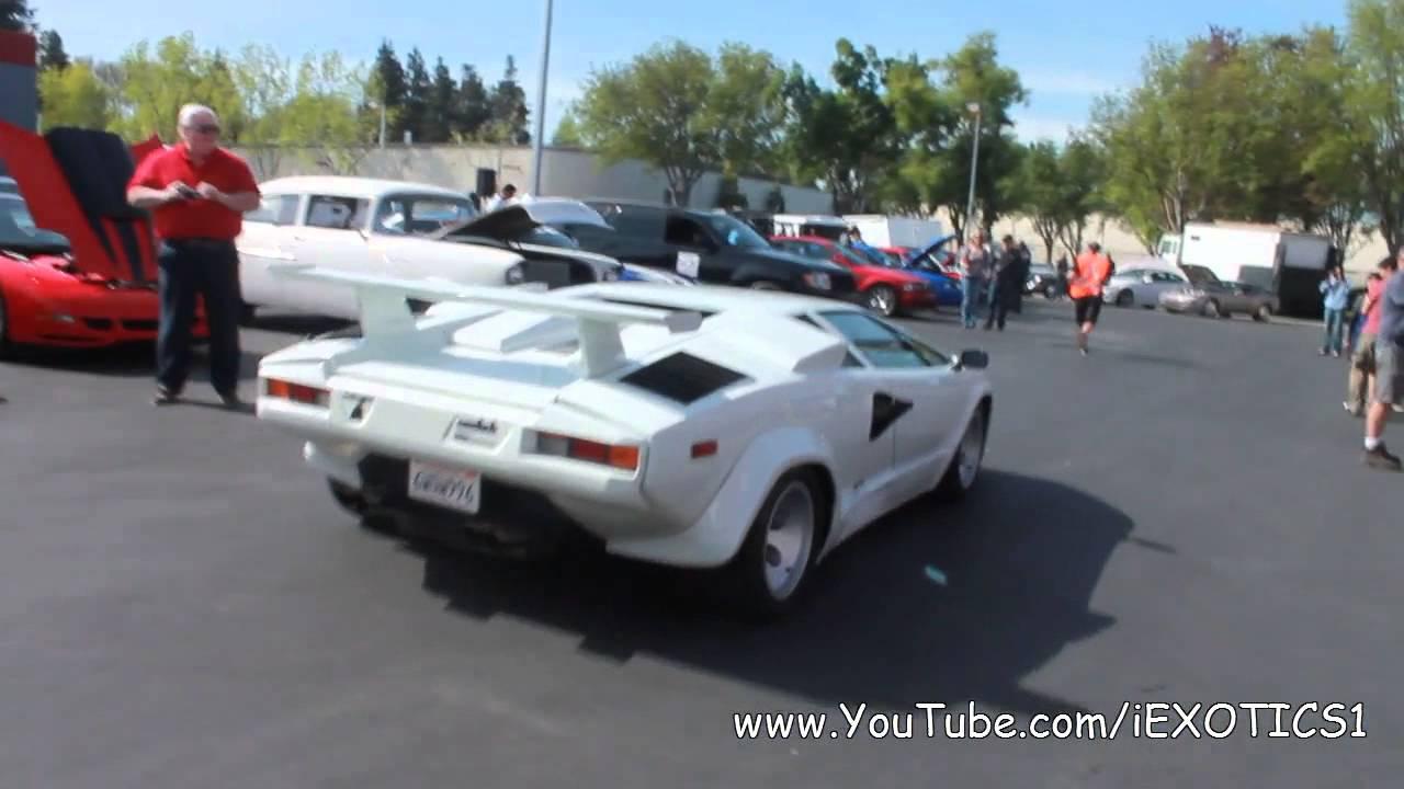 White Lamborghini Countach 5000qv Youtube