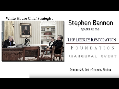Who Is Steve Bannon really? 2011 Speech Reveals His Politica