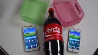 Samsung Galaxy S5 vs. Samsung Galaxy S5 Mini - Coca Cola Test