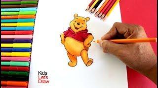 Cómo dibujar a WINNIE POOH paso a paso | How to draw Winnie the Pooh Bear
