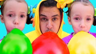 BALLOON SONG FOR KIDS! Colors Song with Balloons. Nursery Rhymes & BABY SONGS BY ULYA