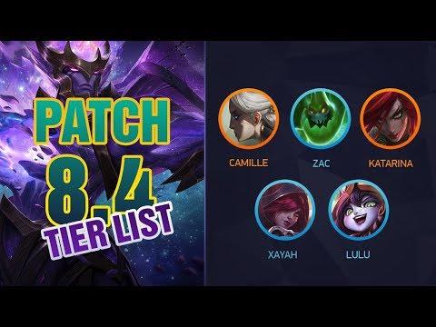 League of Legends Mobalytics Patch 8.4 Tier List: MEGA PATCH thumbnail