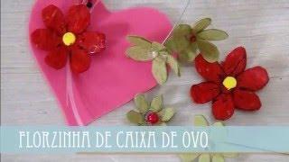 Florzinha de Caixa de Ovo por Flores e Flores