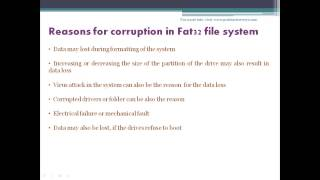 Recover your corrupted fat32 file system using fat32 data recovery
