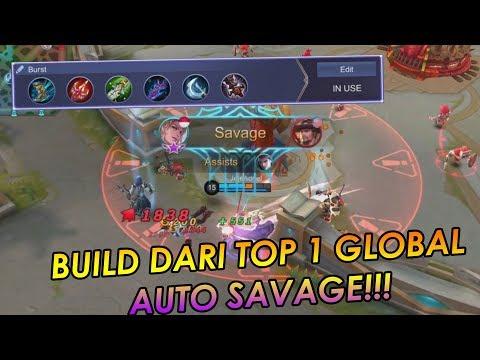 BUILD TERBARU TOP 1 GLOBAL LANCELOT JejeAdriel LANGSUNG SAVAGE!! - Mobile Legends Indonesia