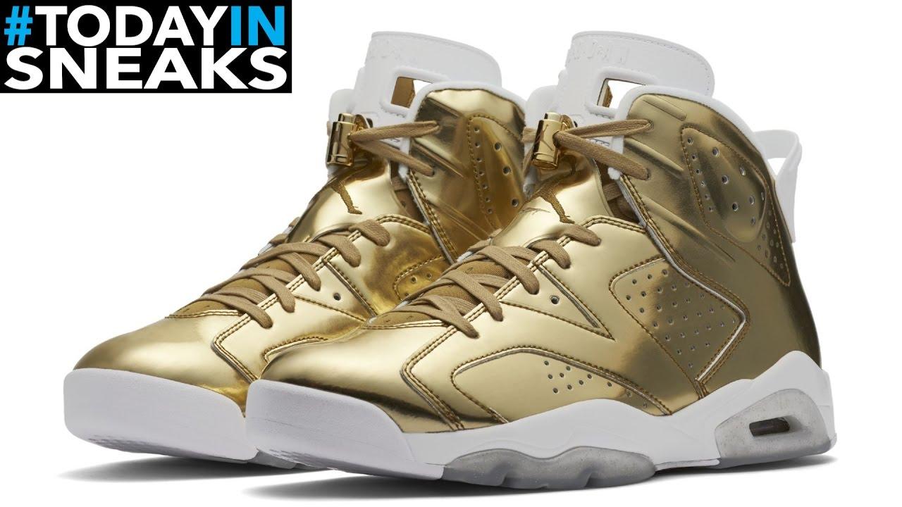 3458483954c7 Metallic Gold Jordan 6 Is Legendary - Today In Sneaks - YouTube