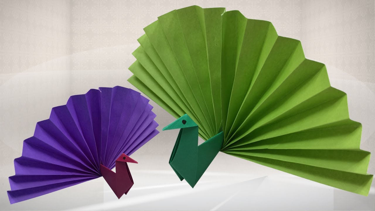 how to make origami peacock easy origami 3d peacock