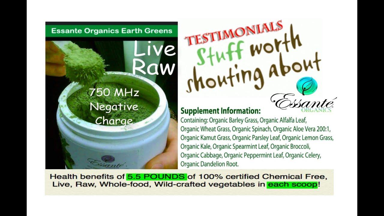 Live Raw Organic Greens Alkalizing Testimonials From