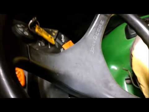 Replacing Throttle Cable on John Deere X Series Tractors - YouTube