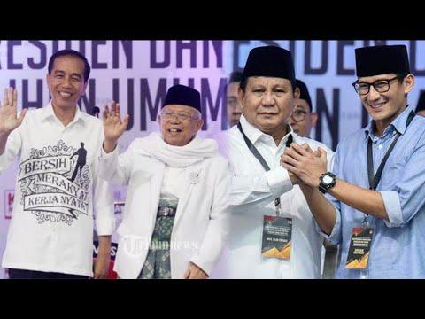 Jokowi-Ma'ruf Nomor Urut 1, Prabowo-Sandiaga Nomor Urut 2