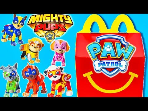 Paw Patrol Mighty Pups Movie Toys Mcdonalds Happy Meal Superhero Toy!