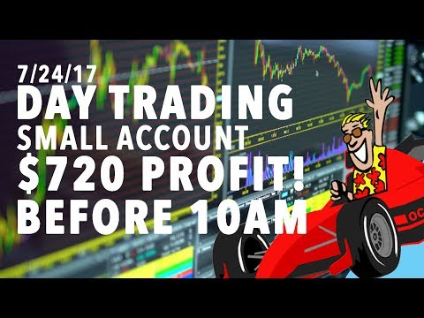 7/24/17 Day Trading Small Account $720 PROFIT BEFORE 10AM!!!