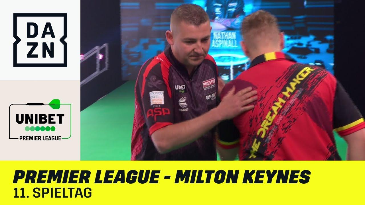Aspinall und Van den Bergh im Top-Duell!   Premier League of Darts - Milton Keynes   DAZN