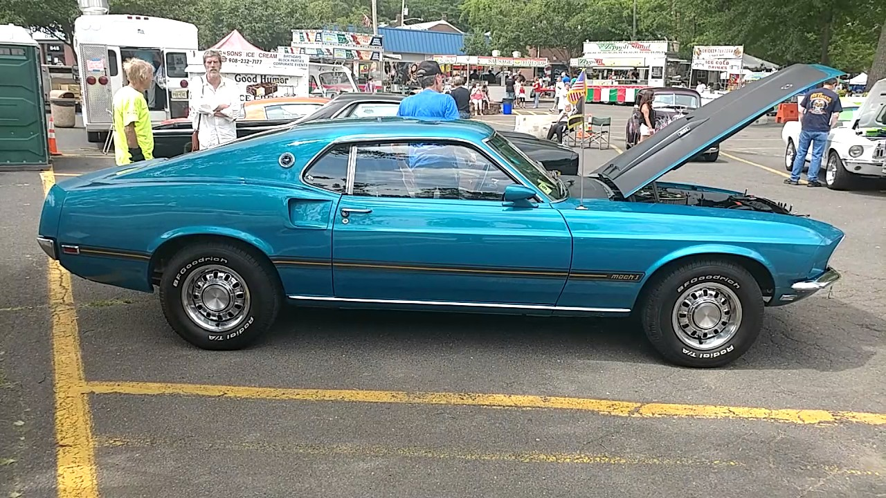 1969 BLUE FORD MUSTANG MACH 1 - YouTube