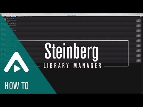 How To Use The Steinberg Library Manager   Sound Content & Accessories