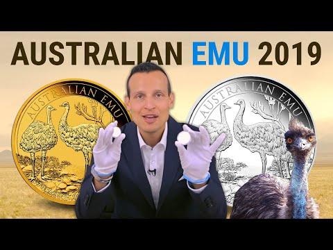 1 Unze Gold und Silber Emu 2019