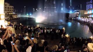 The Dubai Fountain - Burj Khalifa, GoPro Hero3, 12/2014