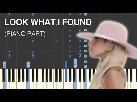 Look What I Found (Lady Gaga) Synthesia Cover (Piano Part)