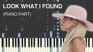 Look What I Found (Lady Gaga) Synthesia Cover (Piano Part) Video