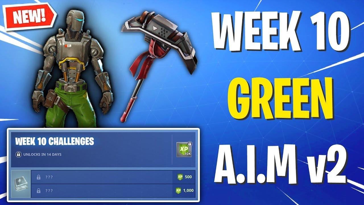 The Green Aim Skin Week 10 Reward Week 10 Challenges Skin