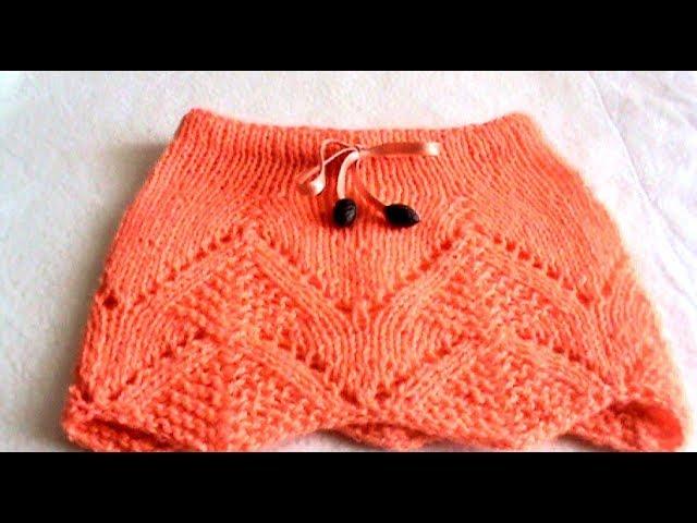 Как связать детскую юбочку без шва. Особенности вязания ажурных узоров по кругу.