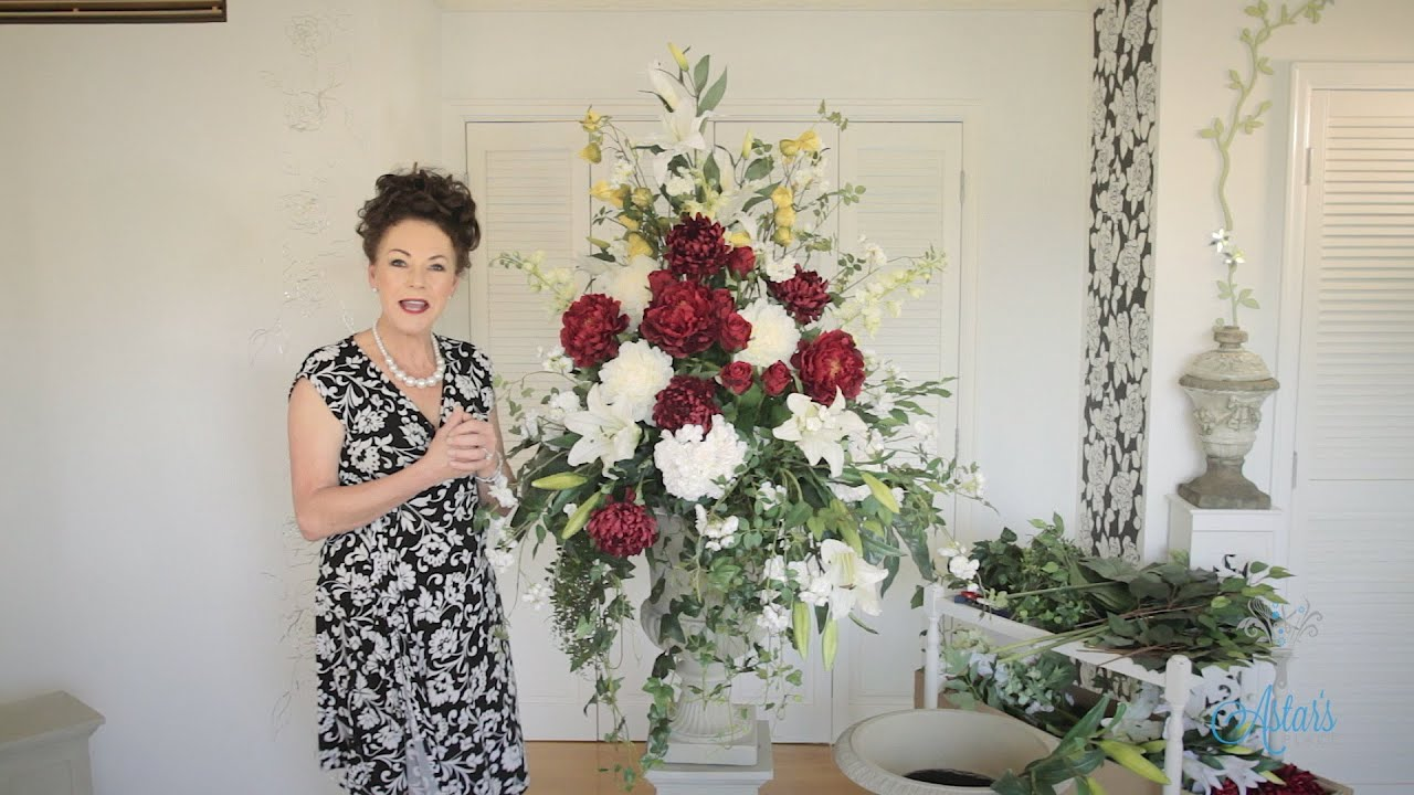 Formal Church Arrangement Floristry Tutorial Youtube