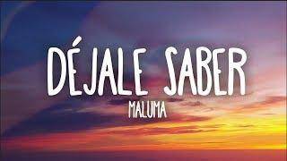 Maluma - Dejale Saber (Letra)