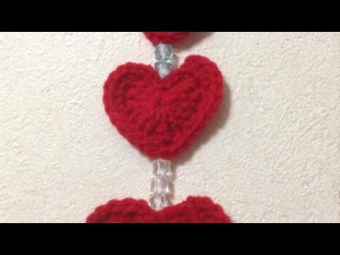 Crochet Cute Hanging Hearts Decor - DIY Crafts - Guidecentral