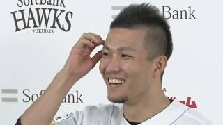 ホークス公式 41千賀投手ノーヒットノーラン達成会見 20190906