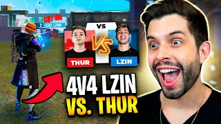 🔴 4V4 AO VIVO! 🔴 TEAM THURZIN VS LZINN 🔴 WILL VS. NODA 🔴 FREE FIRE! 🔴