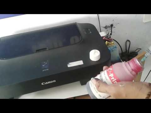 Cara isi tinta warna hitam pada printer canon MP287 dengan mudah dan aman.