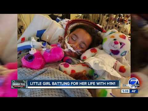 Aurora girl diagnosed with H1N1 continues to fight for her life